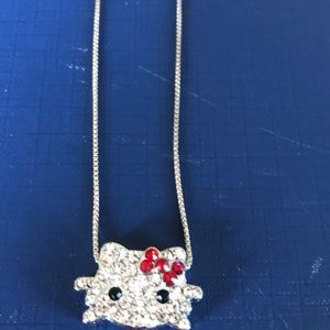 Hello Kitty Real Silver Chain & Pendant